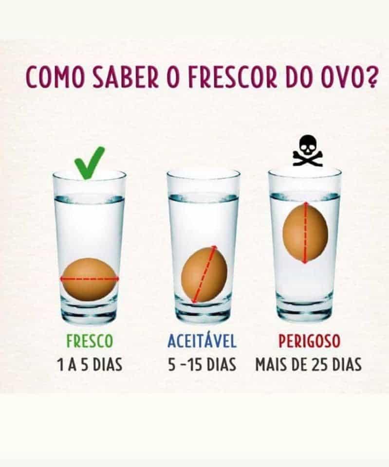 COMO SABER O FRESCOR DO OVO?