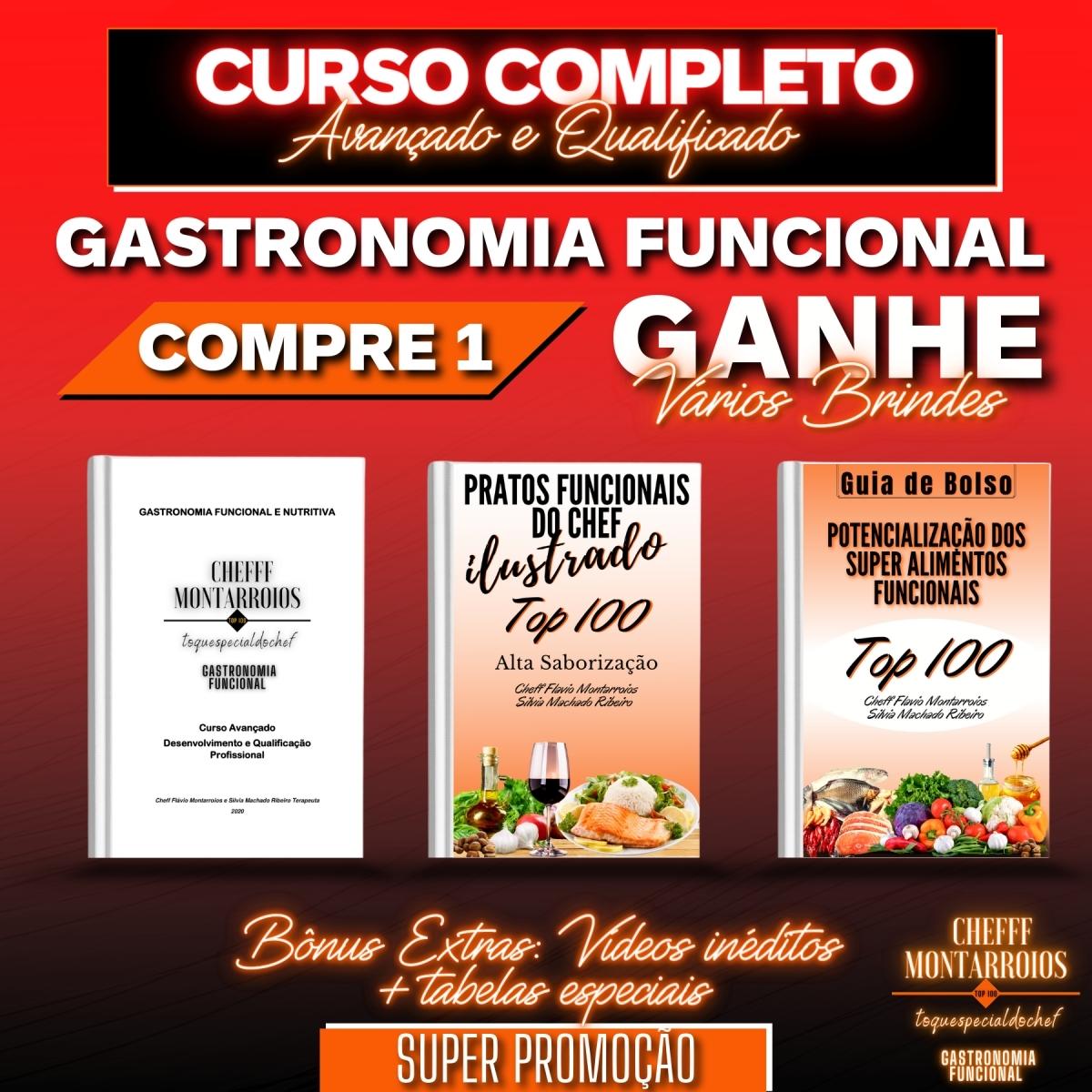 Kit 1 CURSO COMPLETO - Gastronomia Funcional - Foto 1