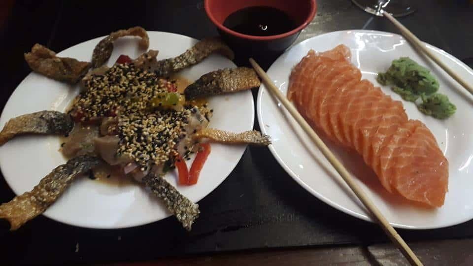 Sashimi japonês e Ceviche de salmão - Foto 1