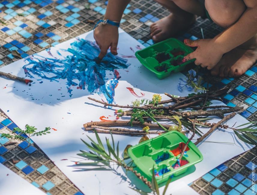 Oficina Pintando com a natureza - Foto 1