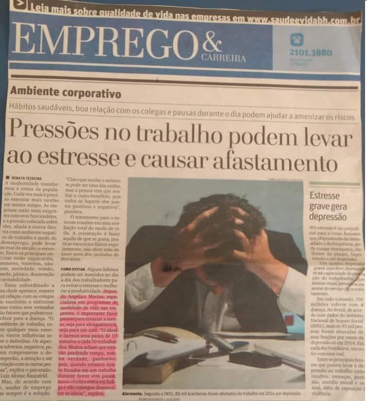 Reportagem sobre Pressões no Trabalho