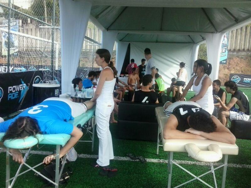 Quick Massage em eventos esportistas