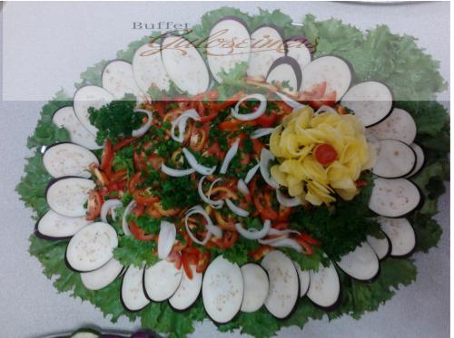 Salada de tomate a alface