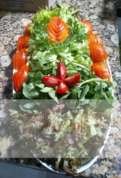 salada de folhas c/tomate