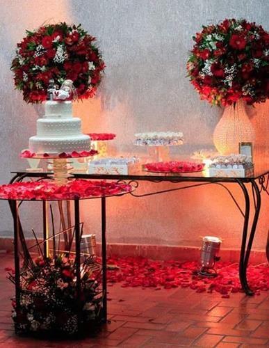 Mesa do bolo decoração do buffet