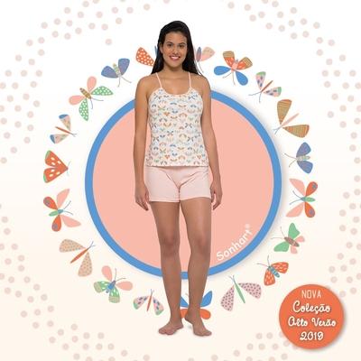 Pijama Curto Alça e Short Sonhart - Foto 1