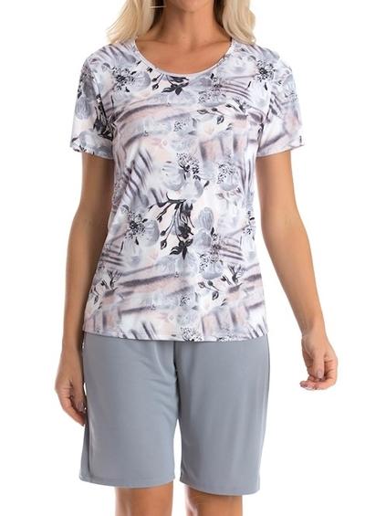 Pijama Mga Curta Recco Clássica Amni - Foto 1