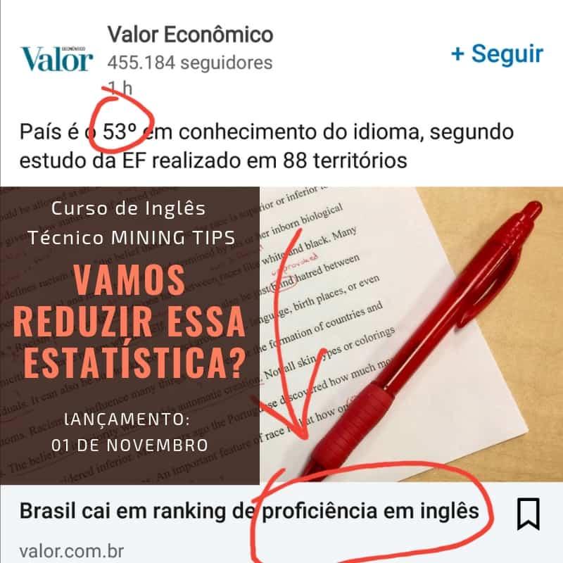 Brasil cai em ranking de proficiência em inglês
