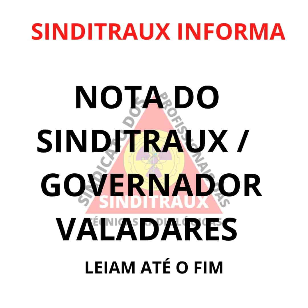 NOTA SINDITRAUX / GOVERNADOR VALADARES