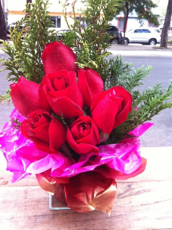 Floral c/08 rosas e compl.