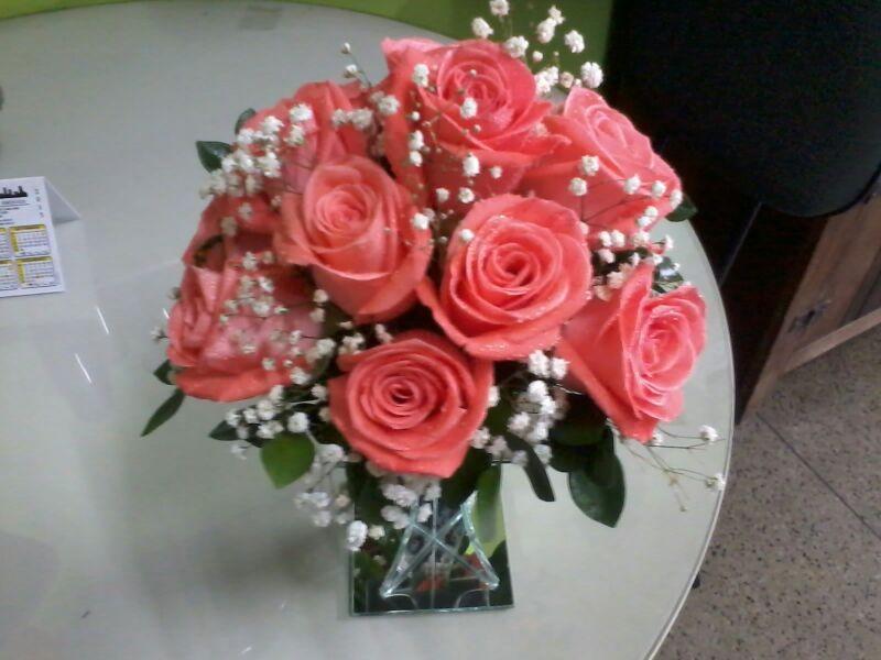 Arranjo floral rosas sandra
