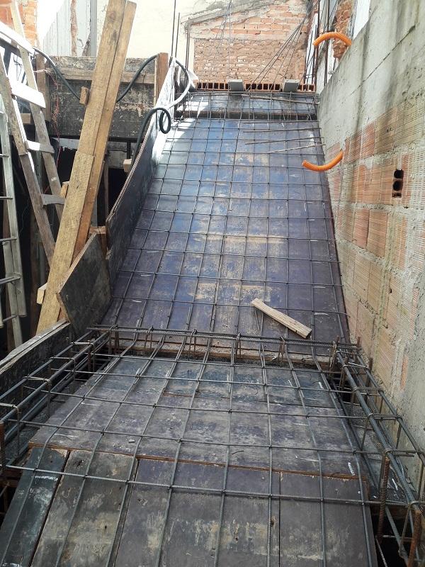 montagem inicial de forma de escada