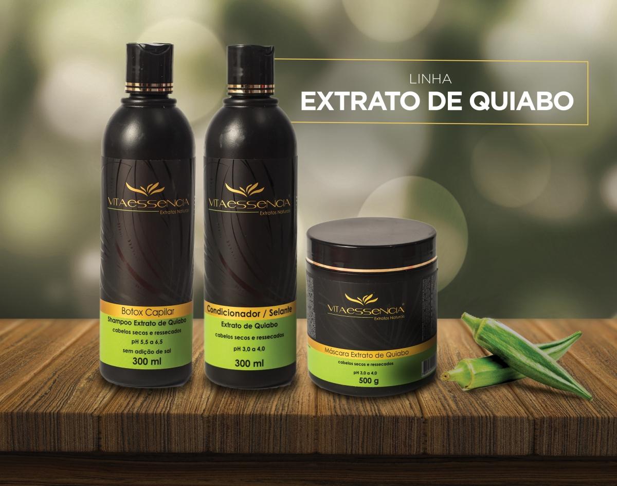 SHAMPOO EXTRATO DE QUIABO - Foto 2