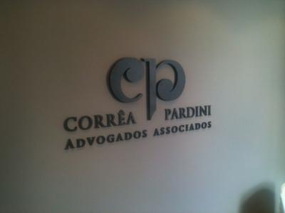 Letreiro Cinza em PVC - Foto 1