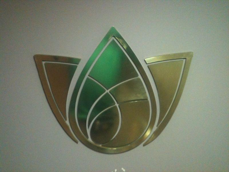 Logomarca Prata em PVC/Face Inox - Foto 2