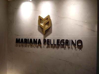 Logomarca em PVC Dourado/Preto - Foto 1