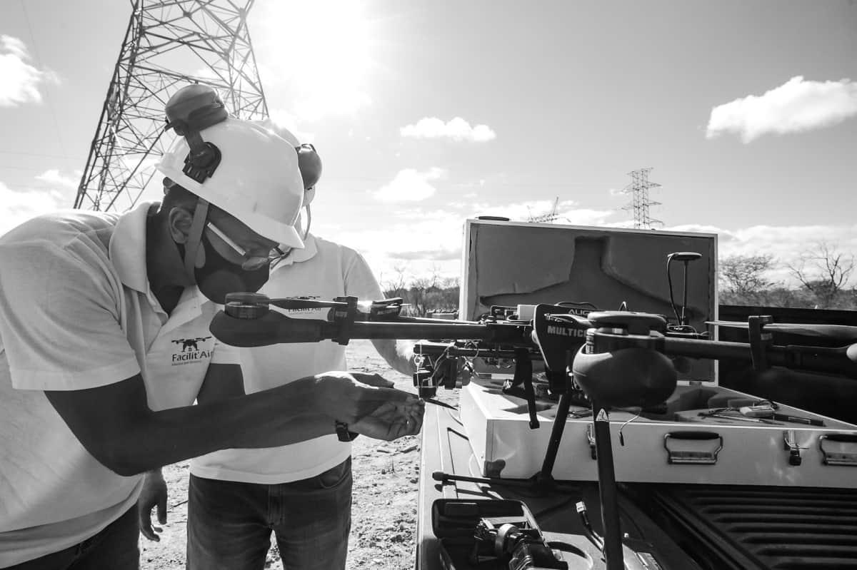 Lançamento de Cabos com Drones - Foto 2