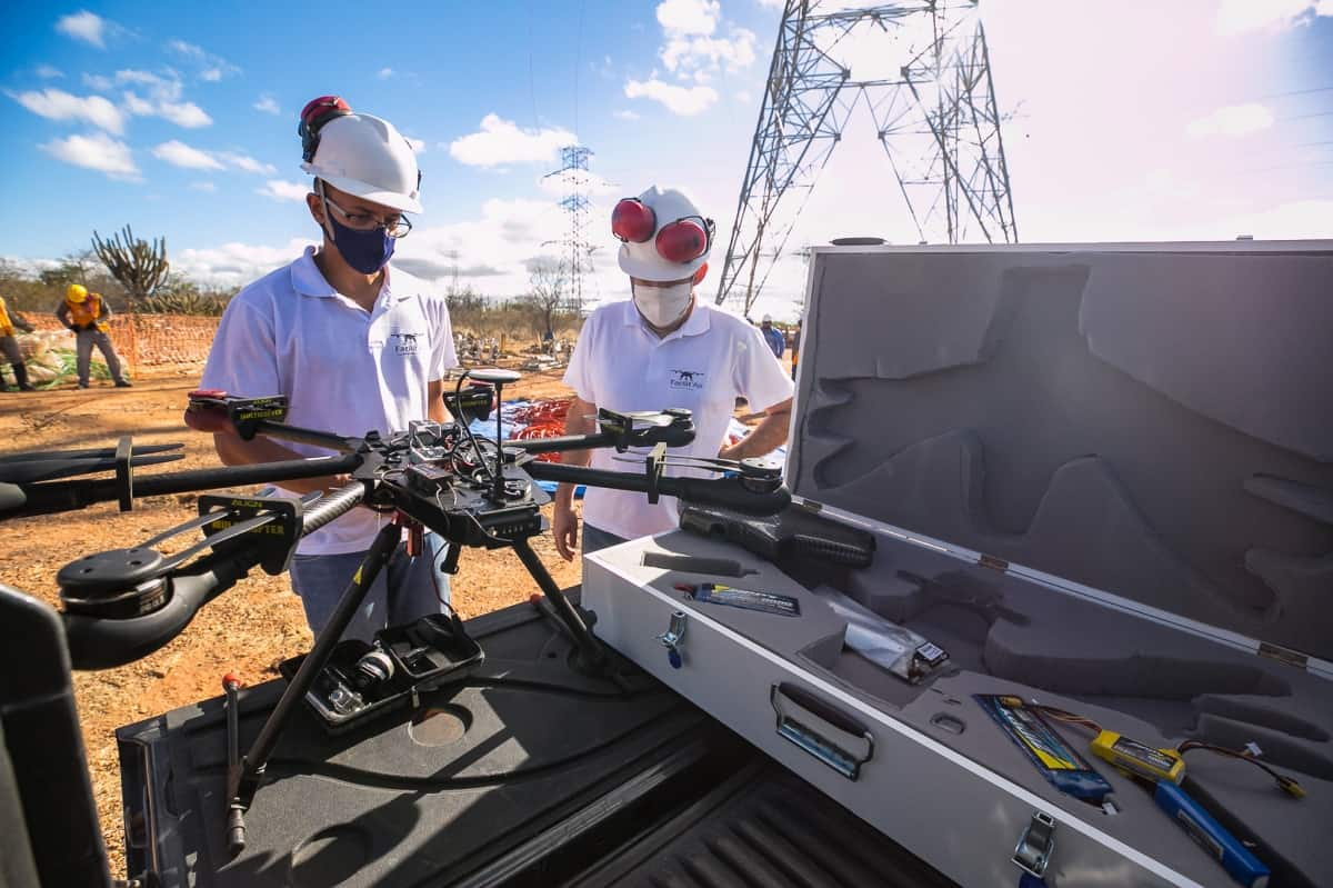 Lançamento de Cabos com Drones - Foto 5