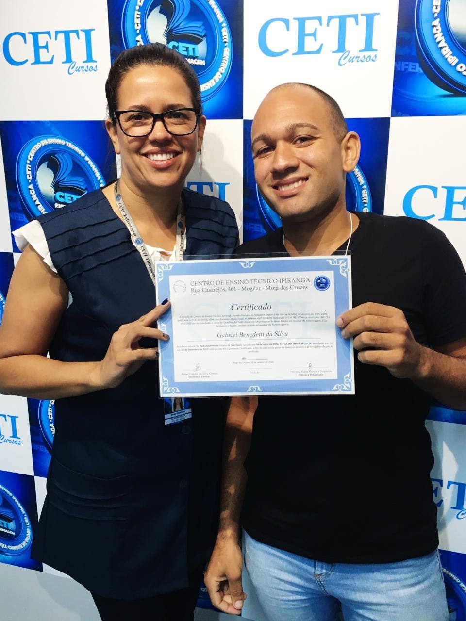 Certificado - GABRIEL BENEDETTI DA SILVA
