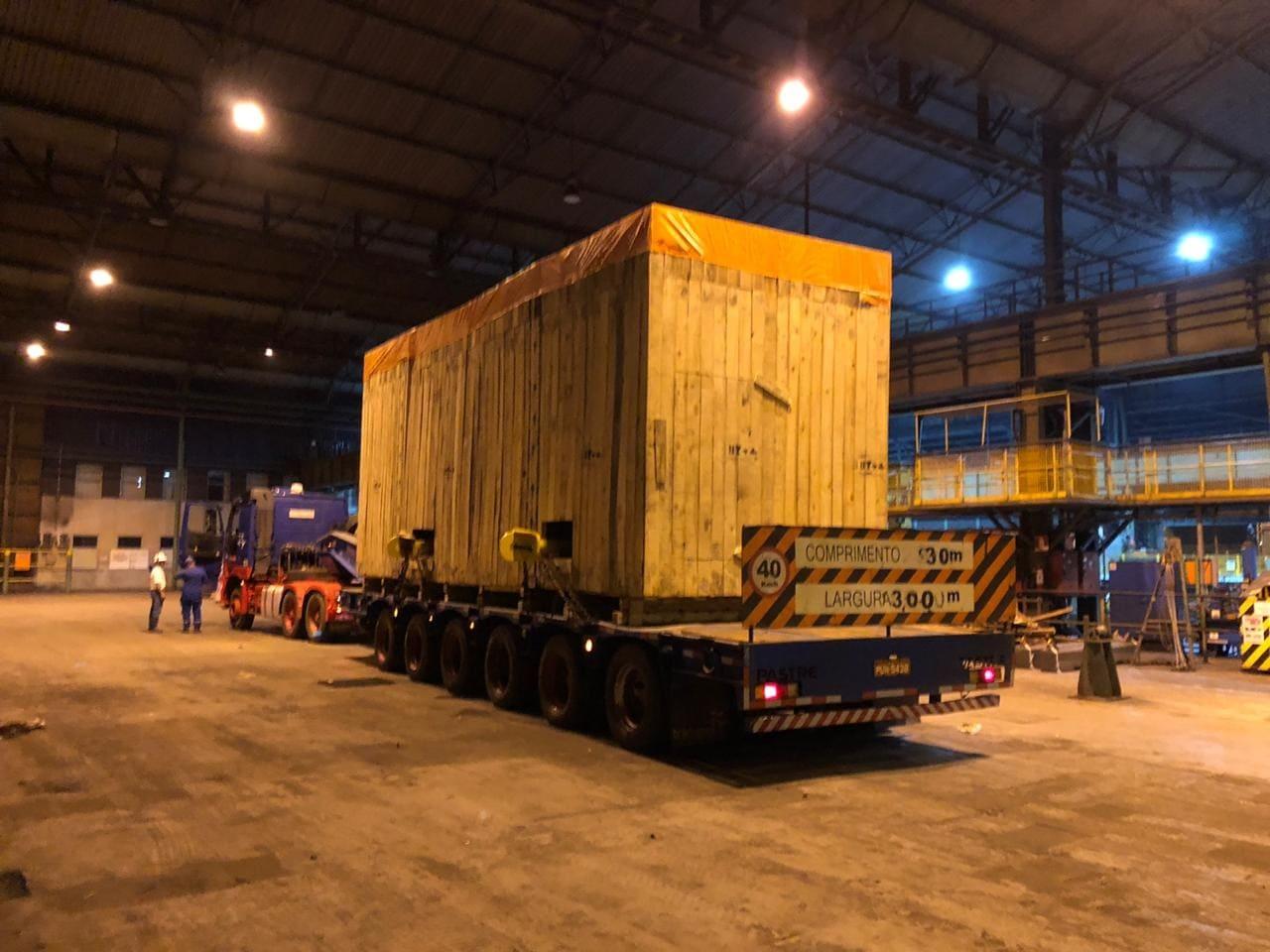 Caixa para exportação 45 toneladas
