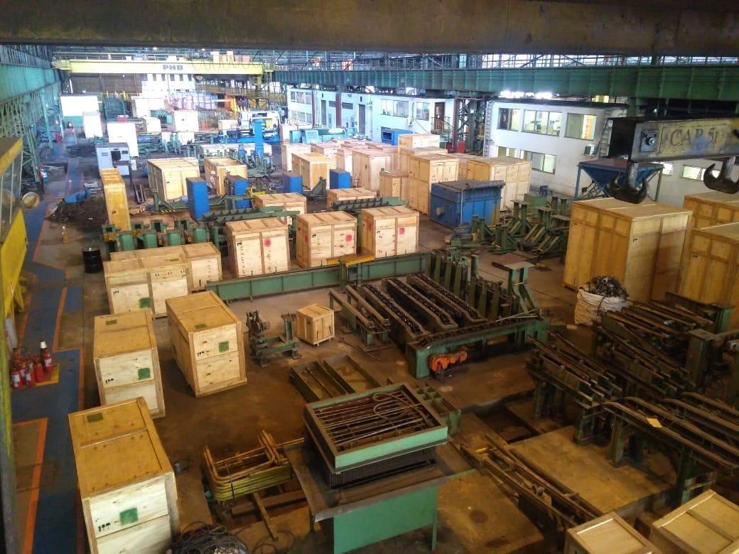 Lote de caixas para exportação