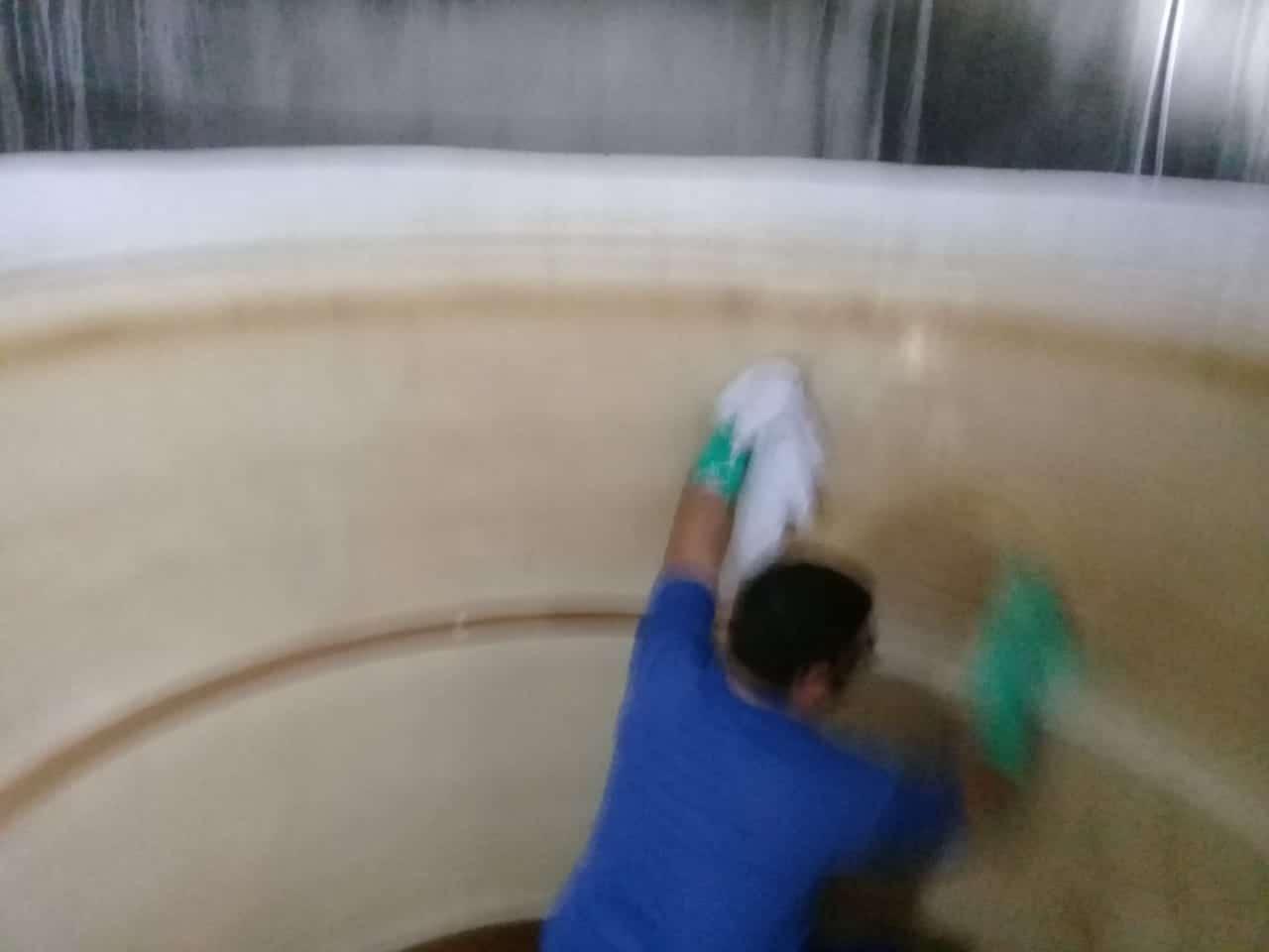 fazendo a limpeza