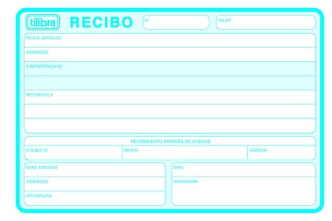 4425-RECIBO COMERCIAL S/CANHOTO 50 FOLHAS- TILIBRA - Foto 2