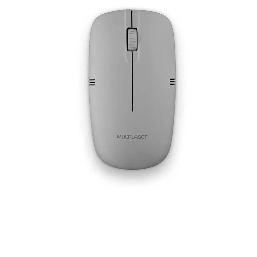 5134- MOUSE SEM FIO 2.4GHZ CINZA USB MULTILASER - Foto 1