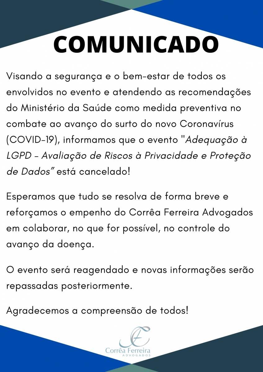Cancelamento de Evento