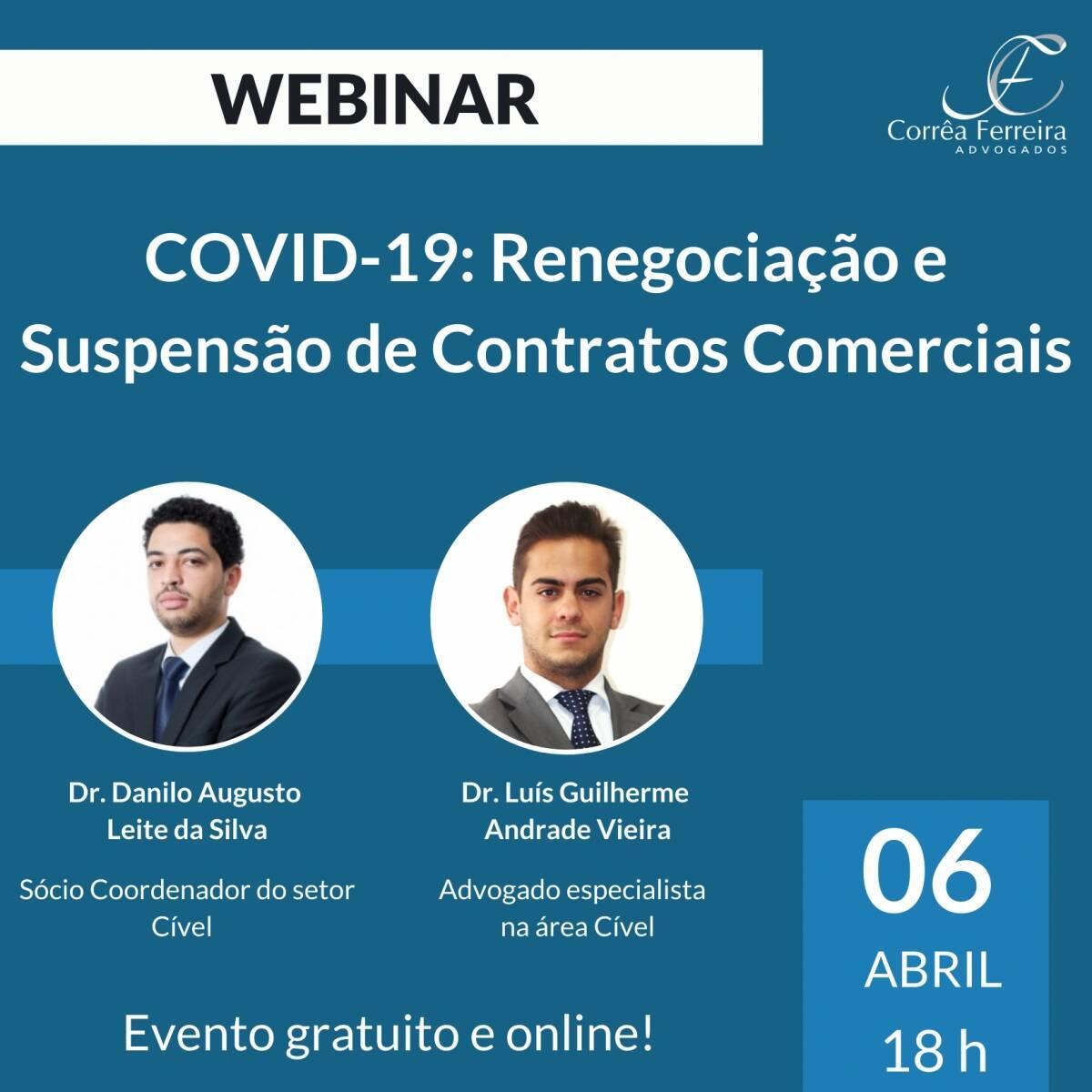 Webinar - Covid-19: Renegociação e Suspensão de Contratos Comerciais