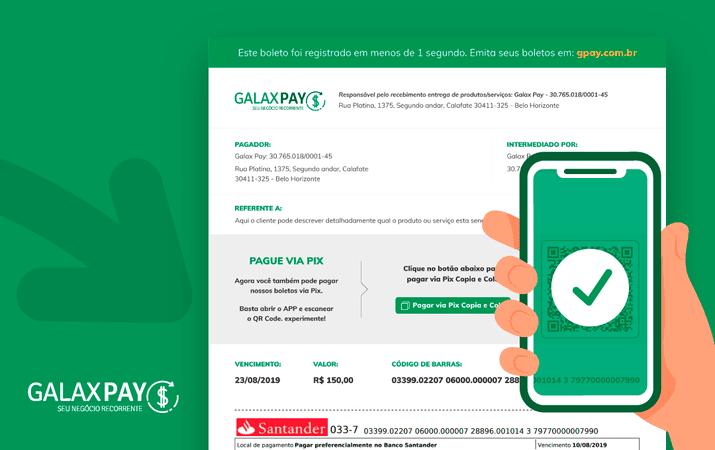 Pix QR Code no Boleto: conheça o BoleMix do Galax Pay