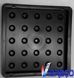Forma Plástica Quadrada Piso Tátil Bolinha Def Vis - Foto 1