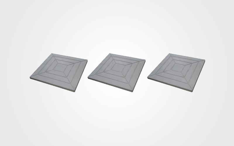 Forma Plástica Quadrada Trabalhada Pirâmide - Foto 3