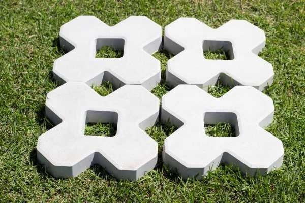 Forma Plástica para Concregrama X 4 Pontas - Foto 5