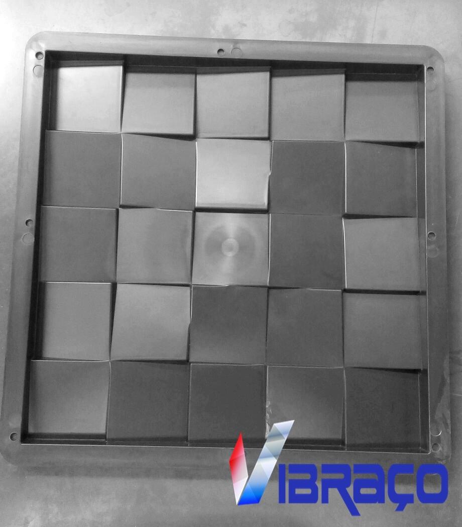 Forma Plástica p/ Revestimento de Parede 3D 25 Qds - Foto 1