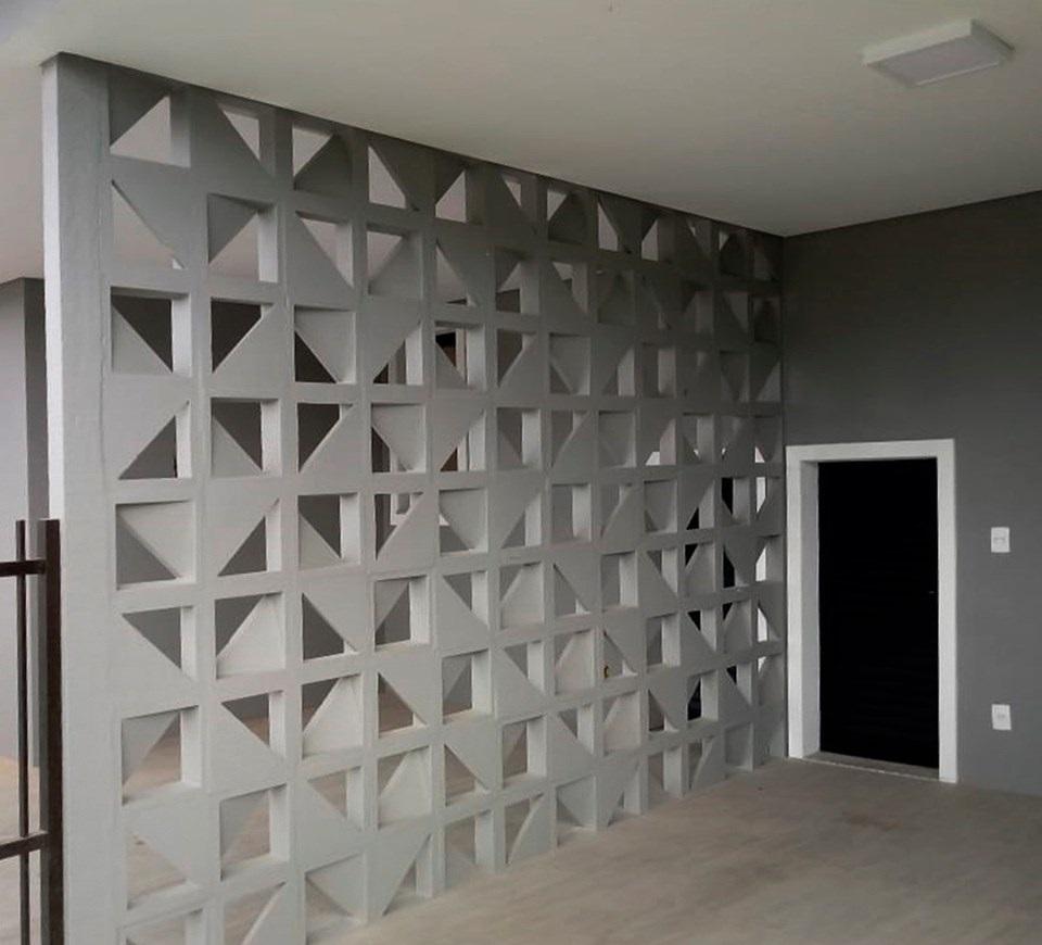 Forma Plástica para Elemento Vazado Triângulo - Foto 9