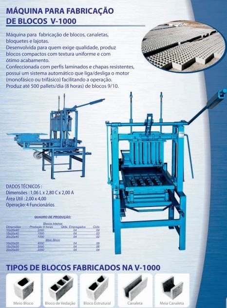 Máquina para Fabricação de Blocos V1000 - Foto 3