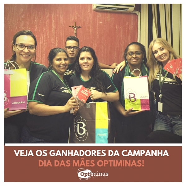 GANHADORES DA CAMPANHA DIA DAS MÃES - 18/05/2016