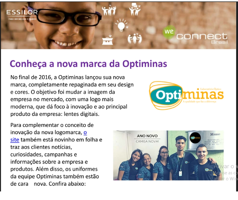 OPTIMINAS NO WE CONNECT ESSILOR - 10/02/2017