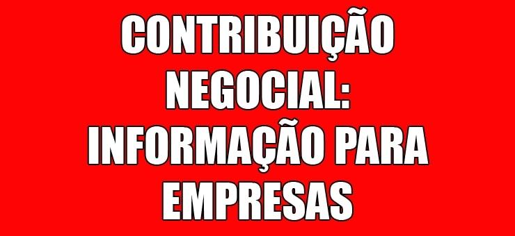 Imagem da notícia EMPRESAS PODEM FAZER DEPÓSITO BANCÁRIO DA CONTRIBUIÇÃO NEGOCIAL