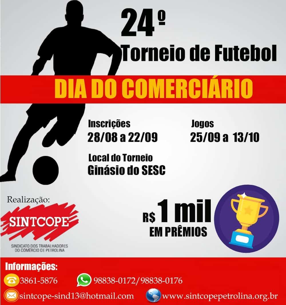 Imagem da notícia Inscrições abertas para o 24º. Torneio de Futsal- Dia do Comerciário