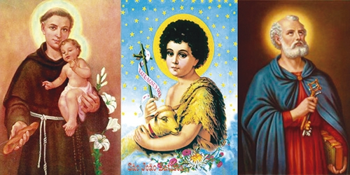 Imagem da notícia Santo Antônio, São João e São Pedro histórias dos santos juninos