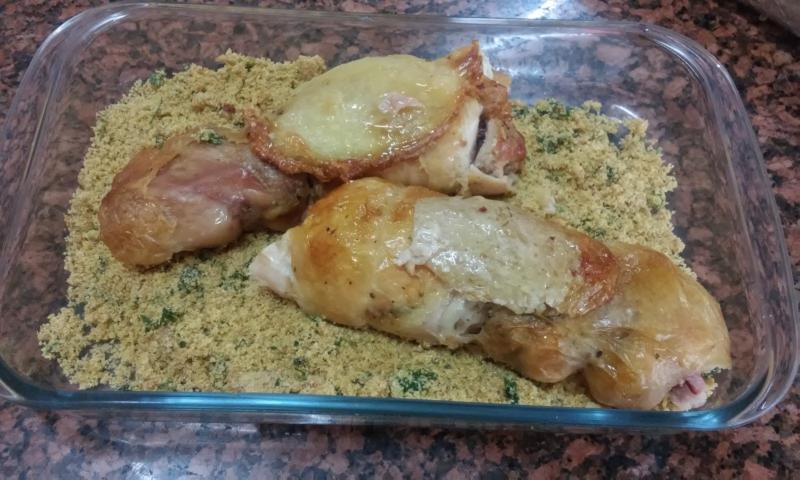 Rocambole de frango