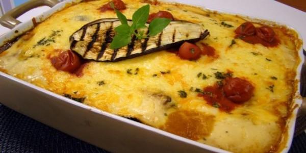 lasanha de beringela ou champignon