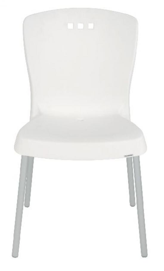 Cadeira branca pés pintados
