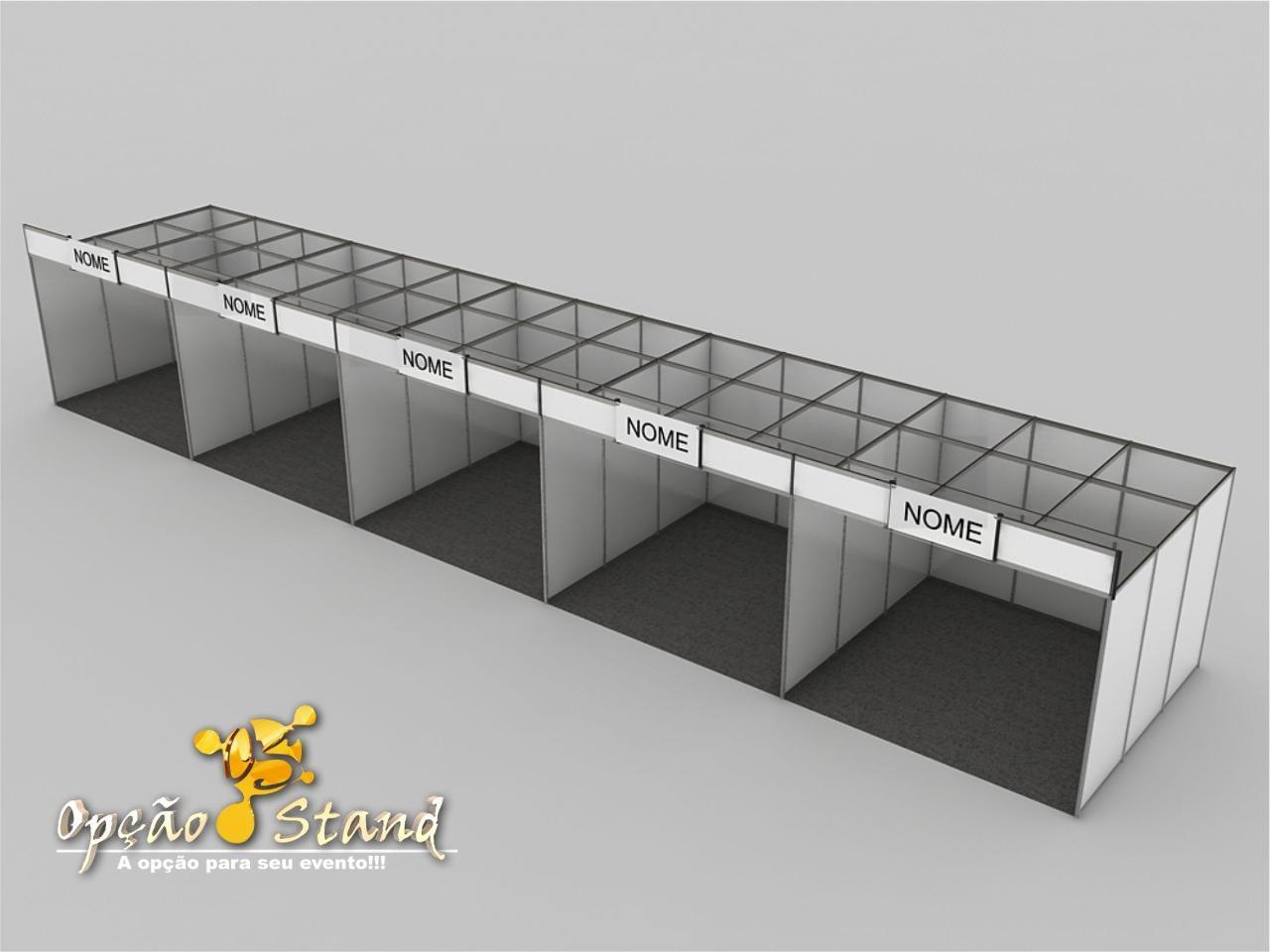Stand Básico modelo 2020 - Testeira de vidro
