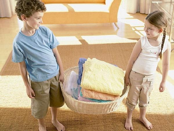 Como incluir os filhos nas atividades domésticas?