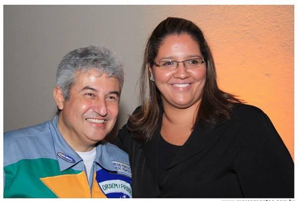 Giuliana Lopes e Marcos Pontes - o astronauta