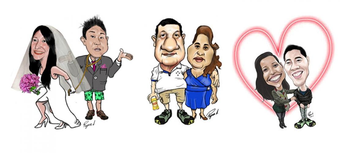Caricaturas de Casais