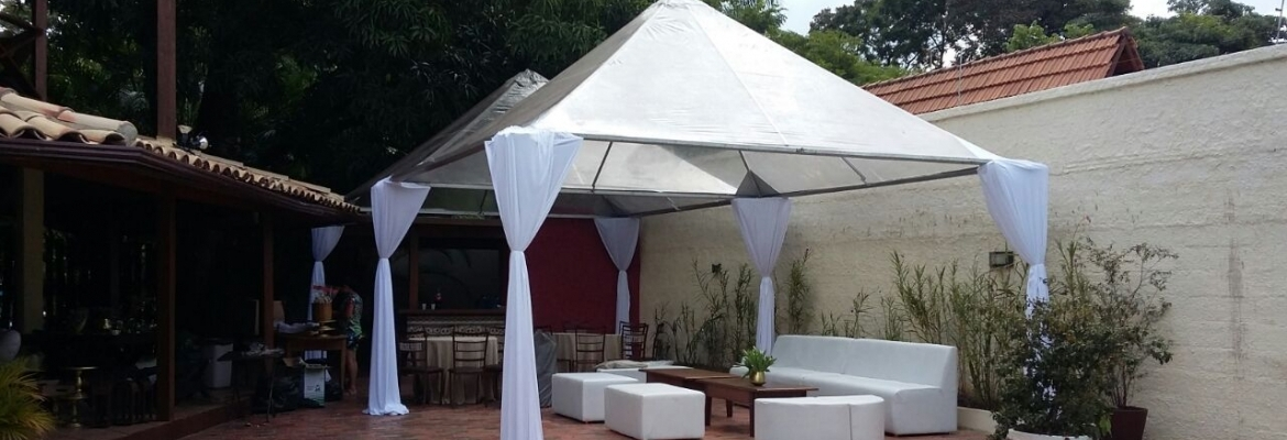 tenda cristal 5x5 semi decorada